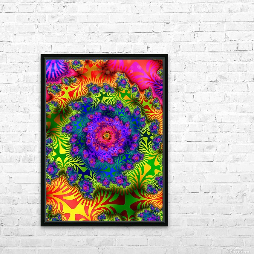 Vivid Abstract Image HD Sublimation Metal print with Decorating Float Frame (BOX)
