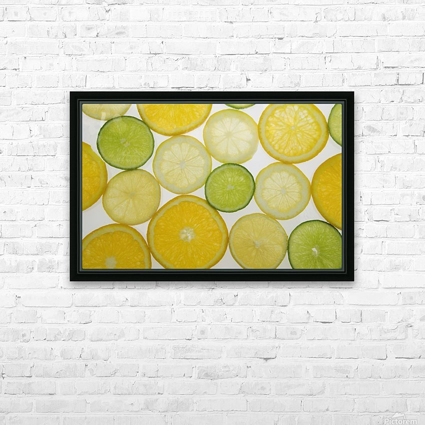 Citrus Slices HD Sublimation Metal print with Decorating Float Frame (BOX)