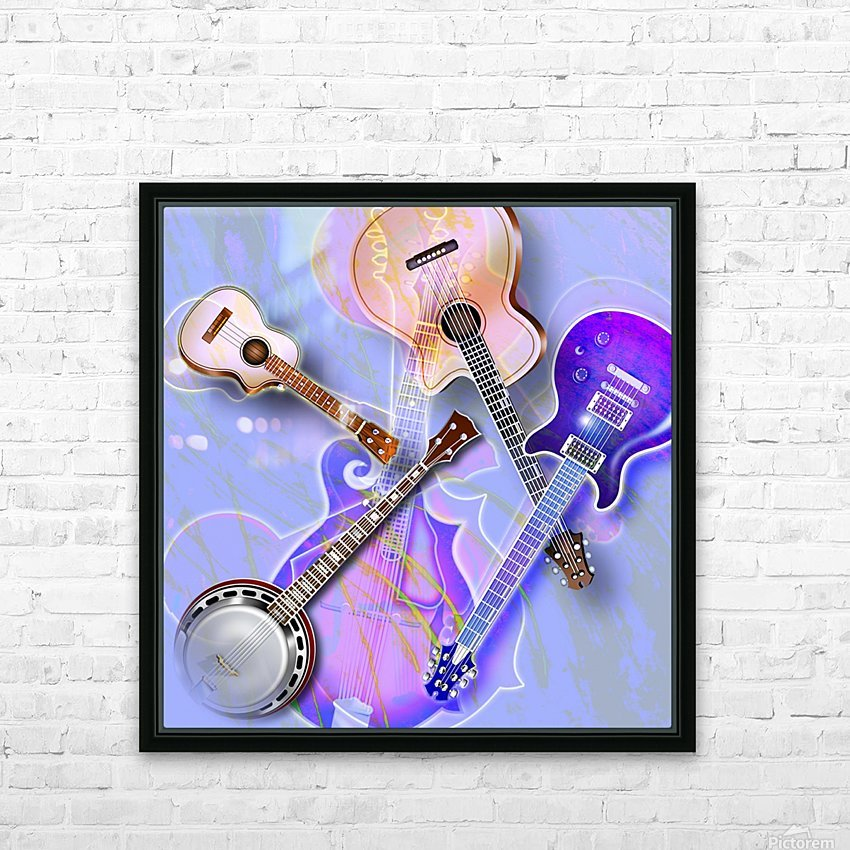 Stringed Instruments HD Sublimation Metal print with Decorating Float Frame (BOX)
