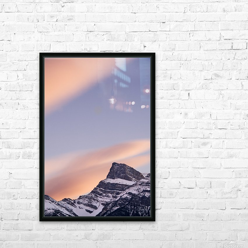 Clouds At Sunset Above Mountain Peaks, Kootenay Plains, Alberta, Canada HD Sublimation Metal print with Decorating Float Frame (BOX)