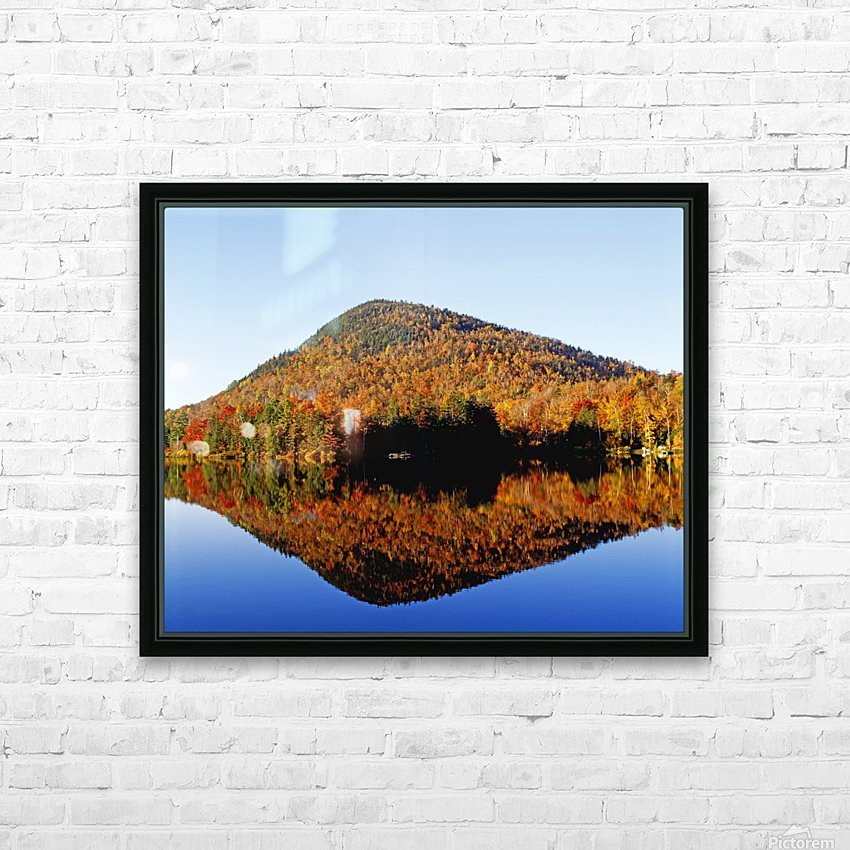 Autumn Colours Reflected In Water, Eastern Townships, Quebec, Canada HD Sublimation Metal print with Decorating Float Frame (BOX)