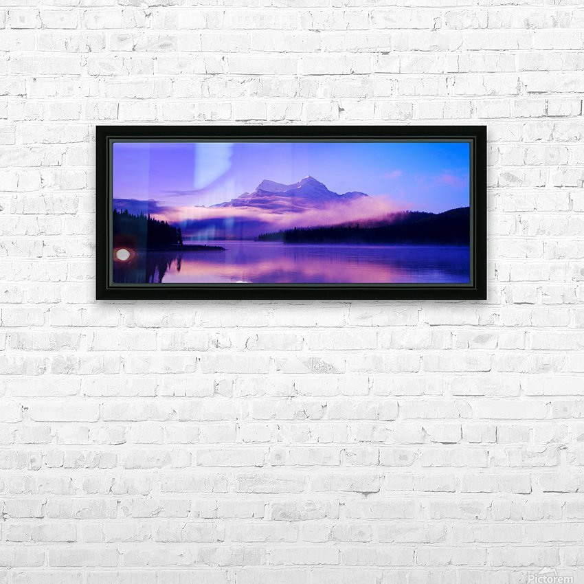 Beautiful Mountain Scenery HD Sublimation Metal print with Decorating Float Frame (BOX)