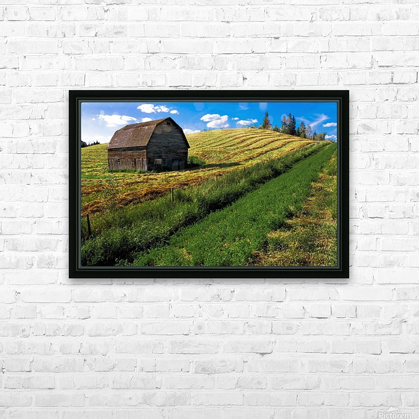 Old Barn In A Field HD Sublimation Metal print with Decorating Float Frame (BOX)