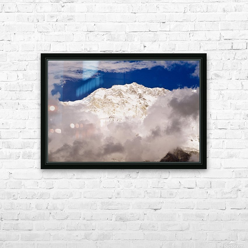 Aerial View Of Mountains, Annapurna Sanctuary, Nepal HD Sublimation Metal print with Decorating Float Frame (BOX)