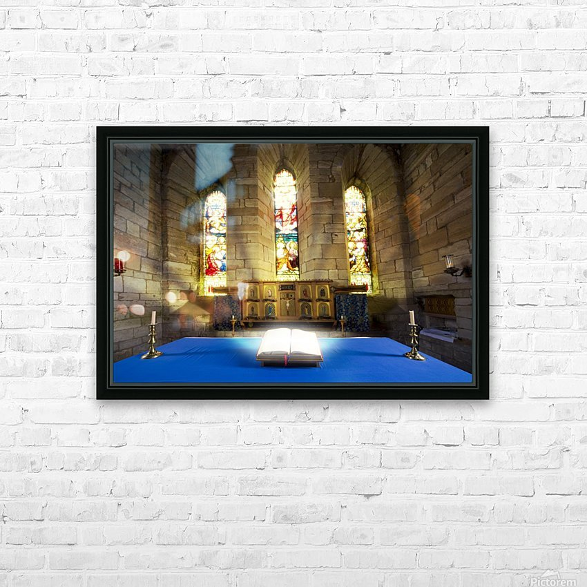 Bible In Church HD Sublimation Metal print with Decorating Float Frame (BOX)