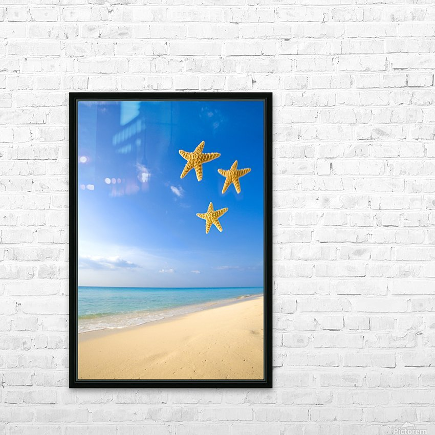 Starfish Falling In Front Of The Ocean HD Sublimation Metal print with Decorating Float Frame (BOX)