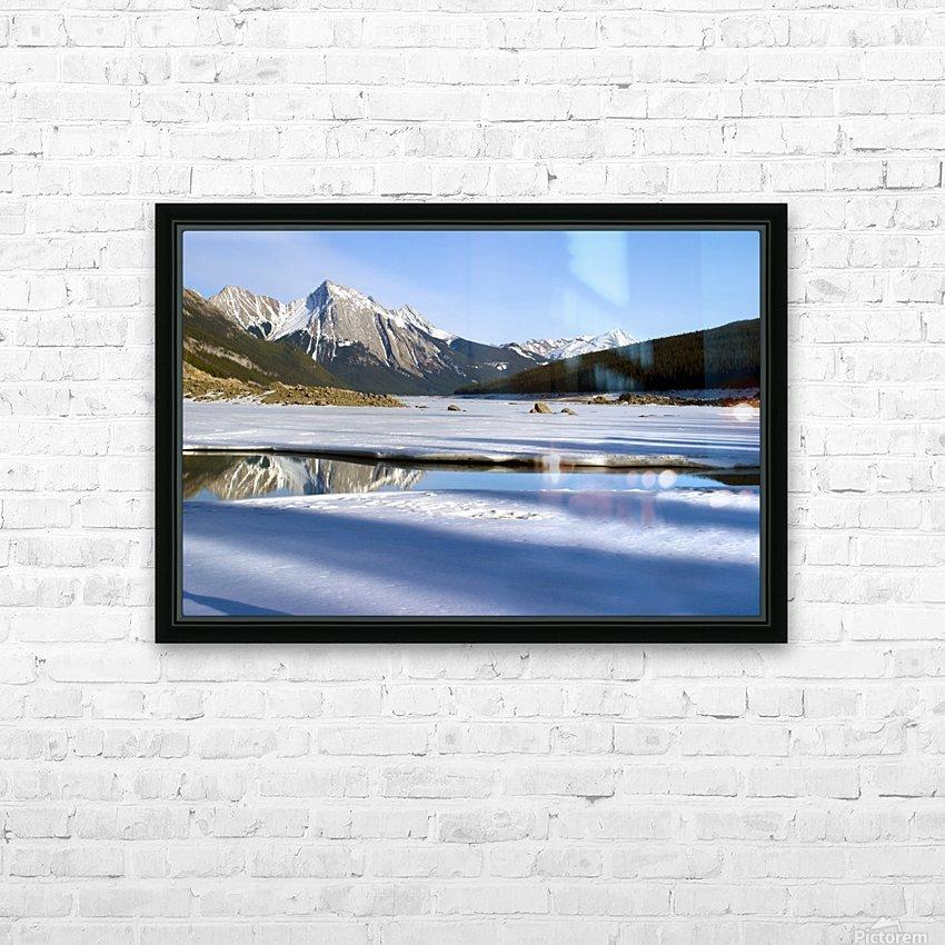 Medicine Lake, Jasper National Park, Alberta, Canada HD Sublimation Metal print with Decorating Float Frame (BOX)