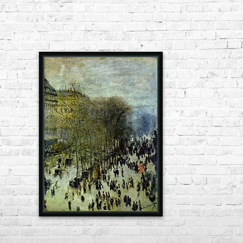 Boulevard of Capucines by Monet HD Sublimation Metal print with Decorating Float Frame (BOX)