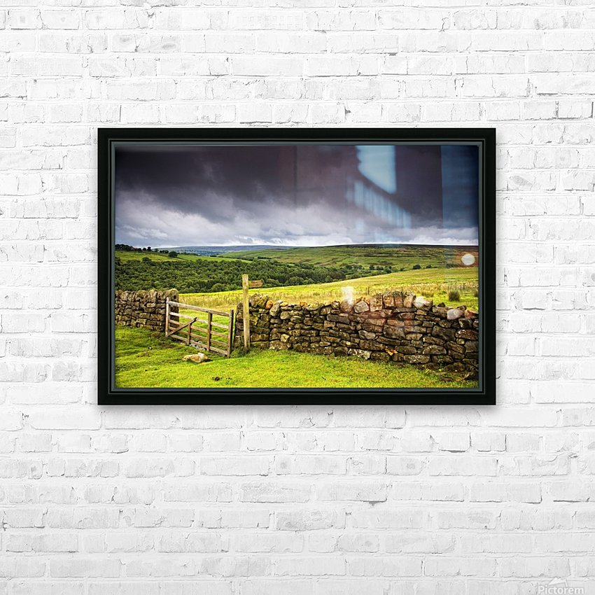Stone Fence, Yorkshire, England HD Sublimation Metal print with Decorating Float Frame (BOX)