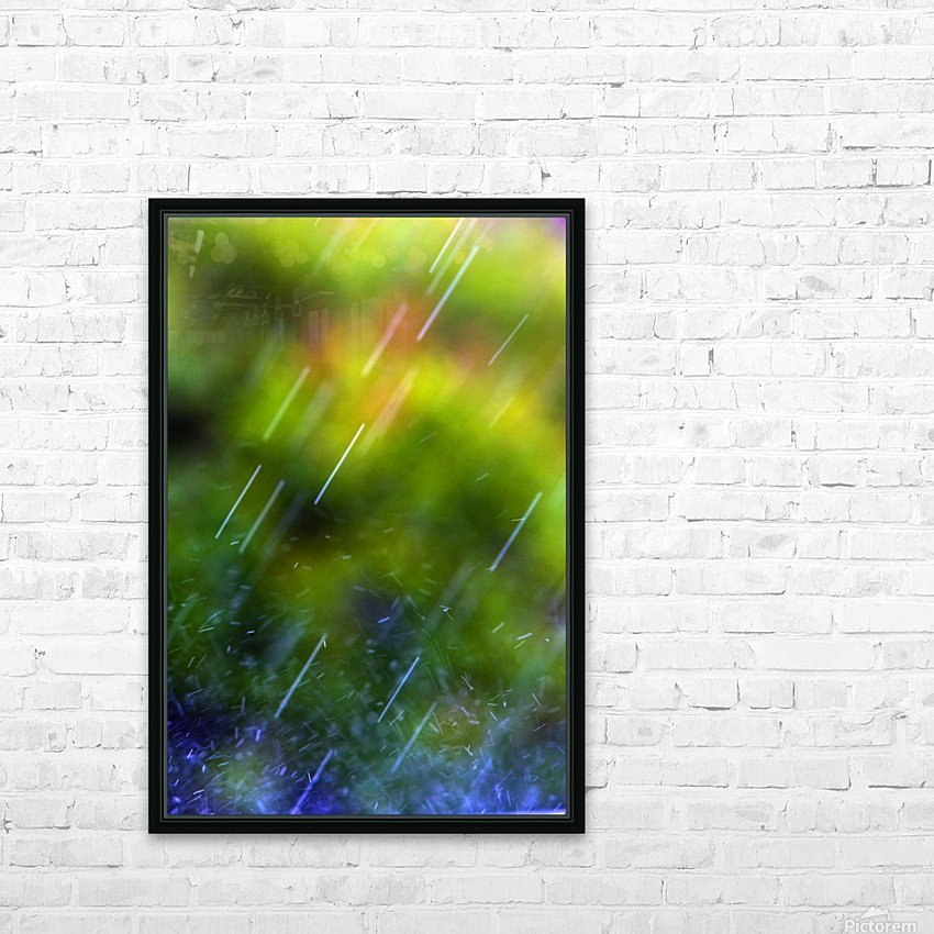 Rain Falling HD Sublimation Metal print with Decorating Float Frame (BOX)