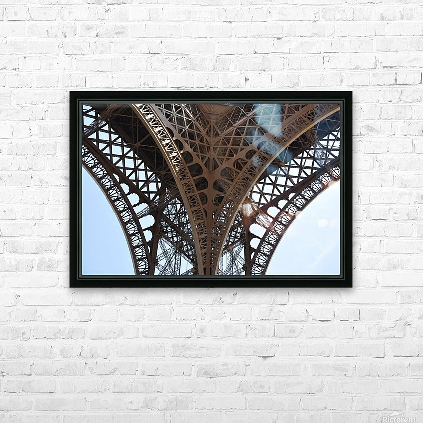 eiffel structure HD Sublimation Metal print with Decorating Float Frame (BOX)
