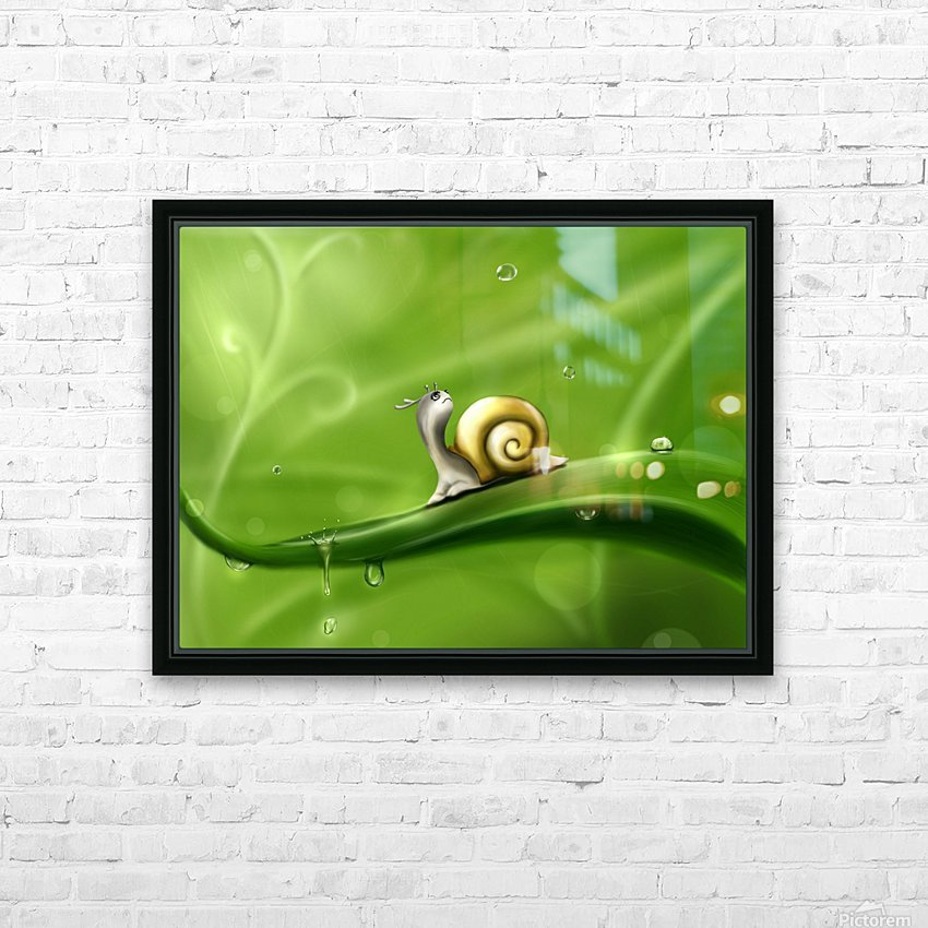 Snail HD Sublimation Metal print with Decorating Float Frame (BOX)