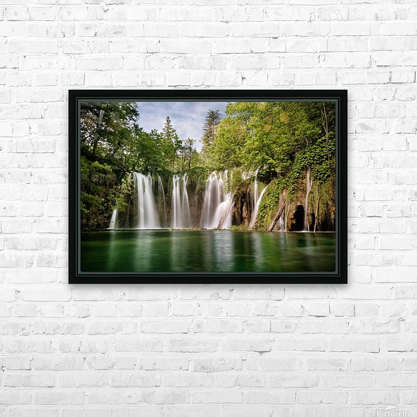 Idyllic Waterfall at Plitvice Lakes HD Sublimation Metal print with Decorating Float Frame (BOX)