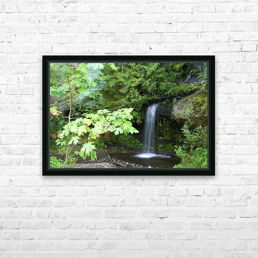Waterfall In The Forest HD Sublimation Metal print with Decorating Float Frame (BOX)