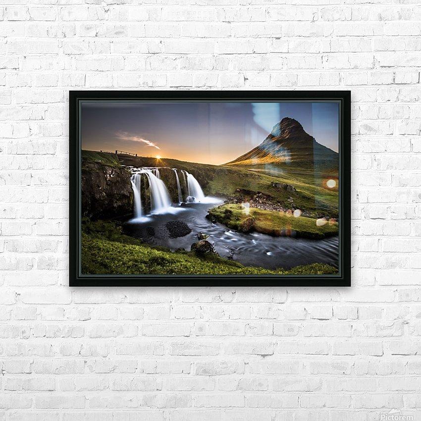 Fairy-Tale Countryside in Iceland HD sublimation métal imprimé avec décoration flotteur cadre (boîte)