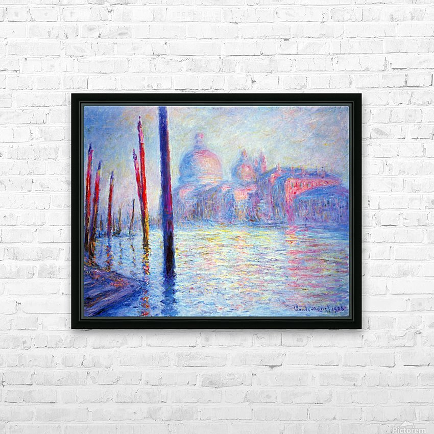 Canal Grand by Monet HD Sublimation Metal print with Decorating Float Frame (BOX)