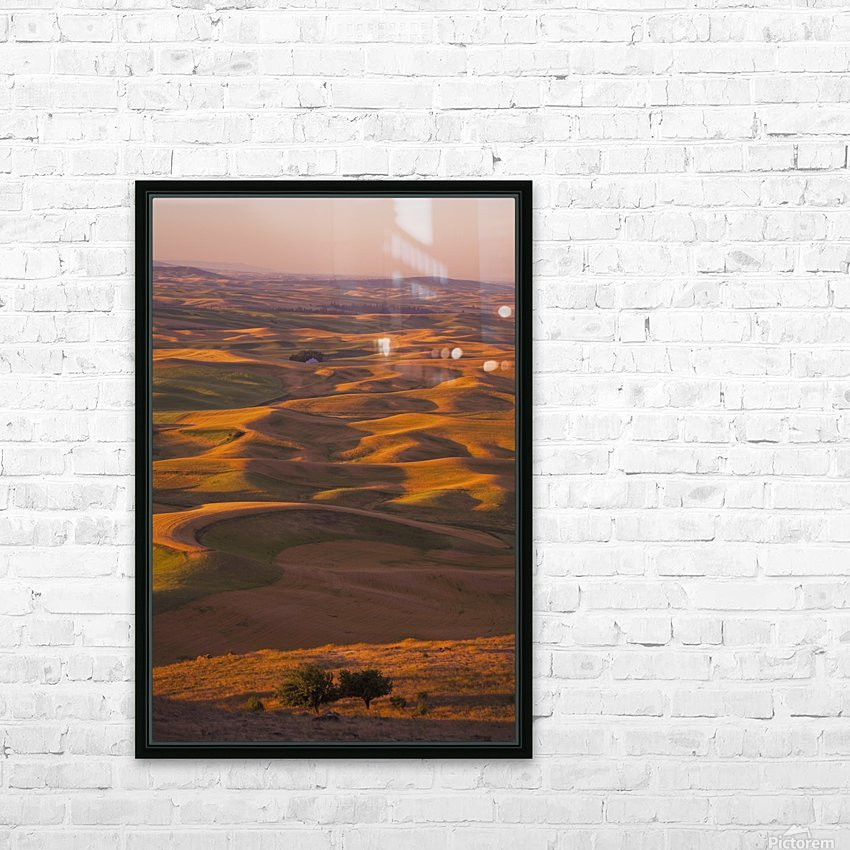 Hilly Landscape HD Sublimation Metal print with Decorating Float Frame (BOX)