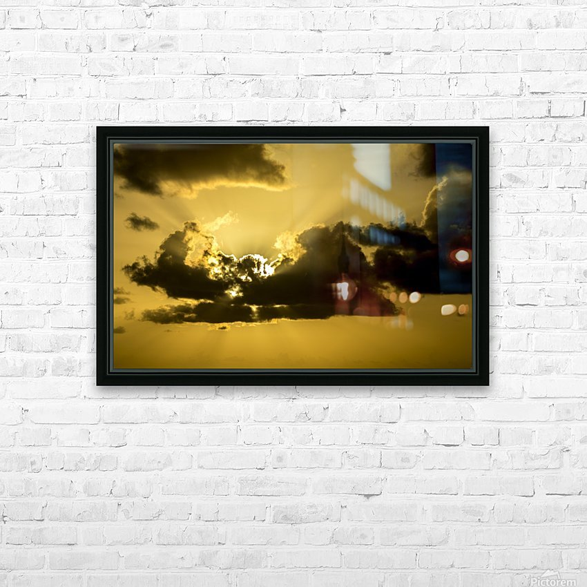 Breaking Sun HD Sublimation Metal print with Decorating Float Frame (BOX)