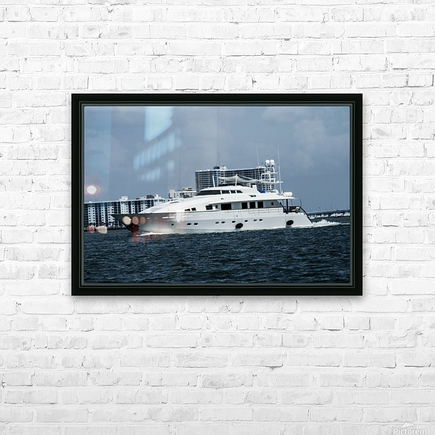 Yacht HD Sublimation Metal print with Decorating Float Frame (BOX)