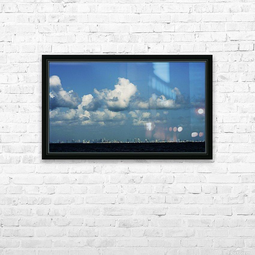 Miami Skyline HD sublimation métal imprimé avec décoration flotteur cadre (boîte)