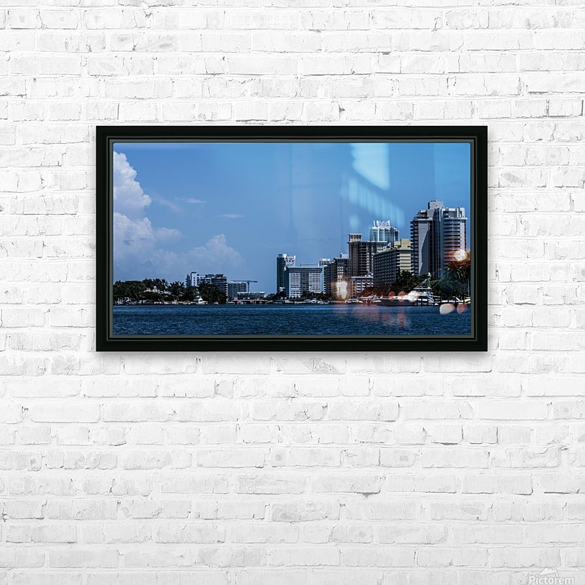 Biscayne Bay HD Sublimation Metal print with Decorating Float Frame (BOX)