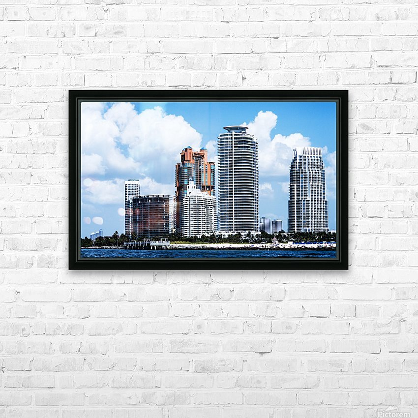 SOFI South of Fifth Miami HD Sublimation Metal print with Decorating Float Frame (BOX)