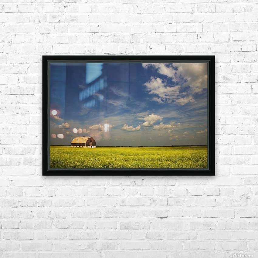 Alberta, Canada; An Old Barn In A Field HD Sublimation Metal print with Decorating Float Frame (BOX)