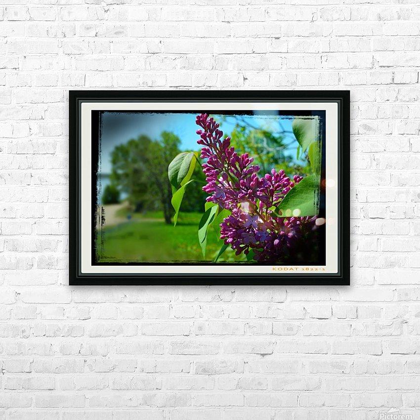 Purple Flowers HD sublimation métal imprimé avec décoration flotteur cadre (boîte)