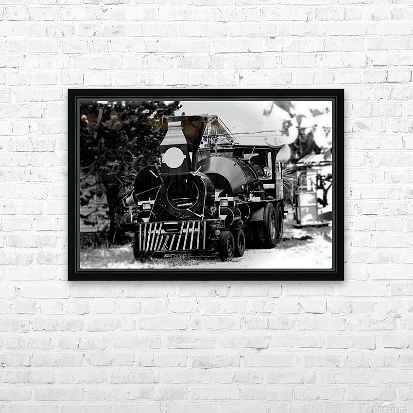 Strange Train HD Sublimation Metal print with Decorating Float Frame (BOX)