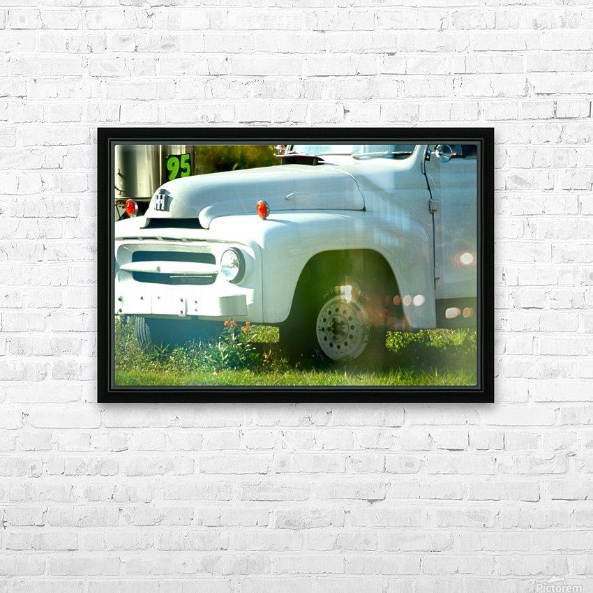 Old Truck 2 HD sublimation métal imprimé avec décoration flotteur cadre (boîte)