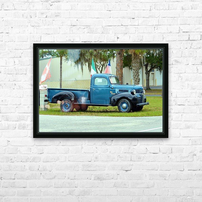 Old Truck HD sublimation métal imprimé avec décoration flotteur cadre (boîte)