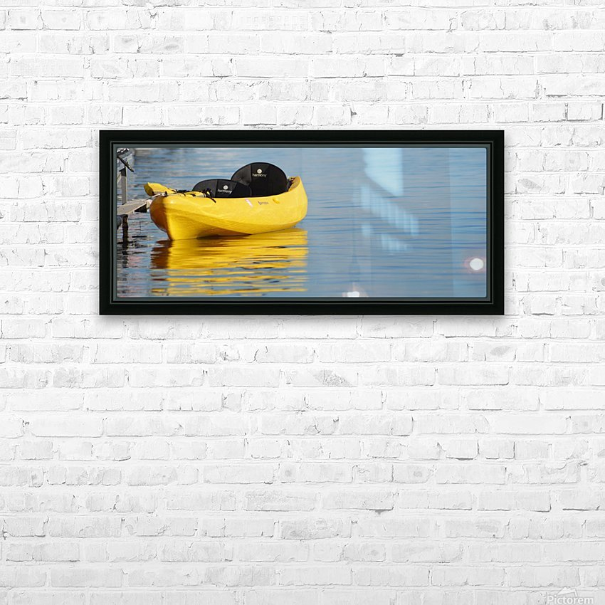 Yellow Kayak HD Sublimation Metal print with Decorating Float Frame (BOX)