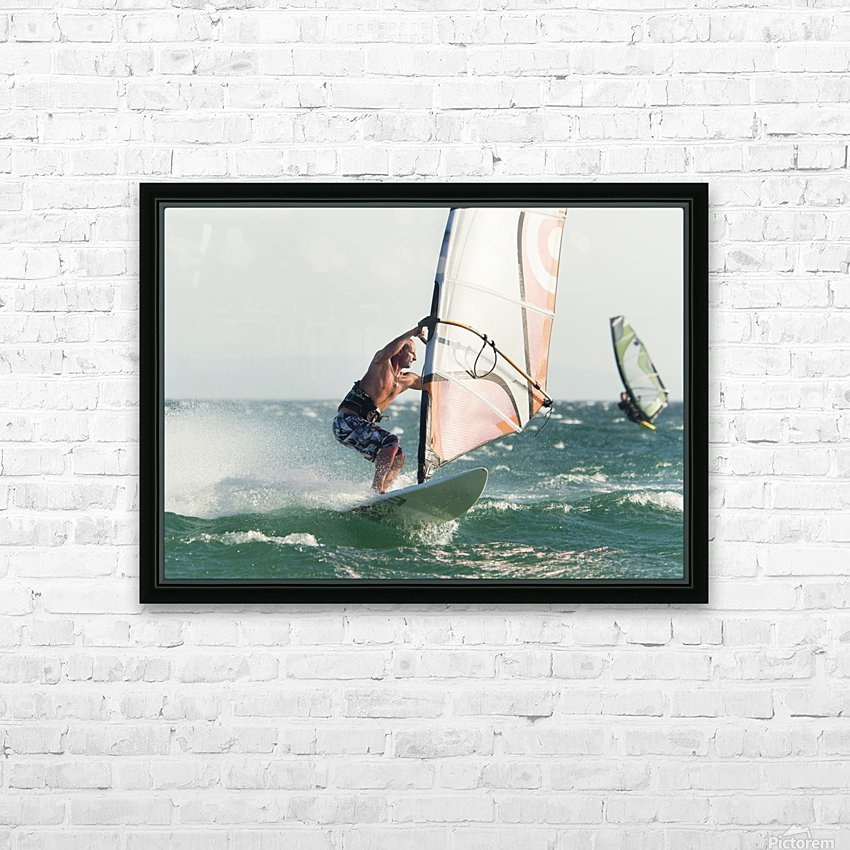 Windsurfing; Tarifa, Cadiz, Andalusia, Spain HD Sublimation Metal print with Decorating Float Frame (BOX)