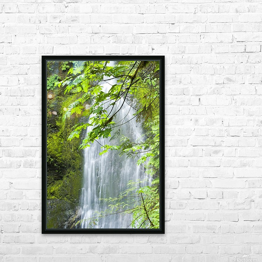 Marymere Falls, Olympic National Park HD Sublimation Metal print with Decorating Float Frame (BOX)