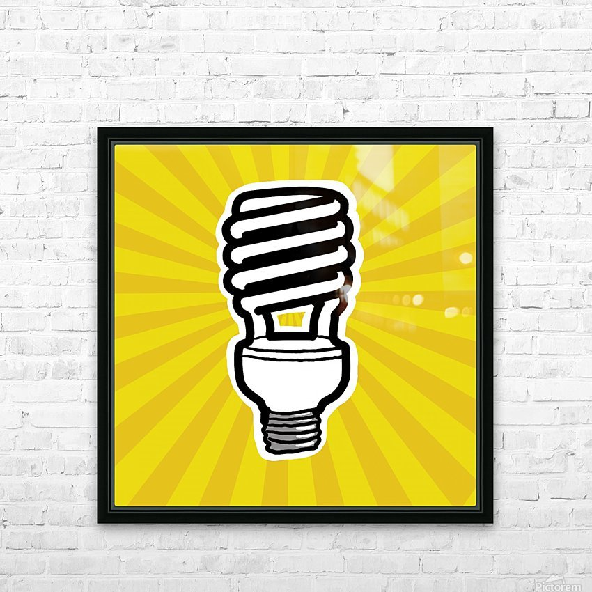 Compact Fluorescent Lightbulb HD Sublimation Metal print with Decorating Float Frame (BOX)