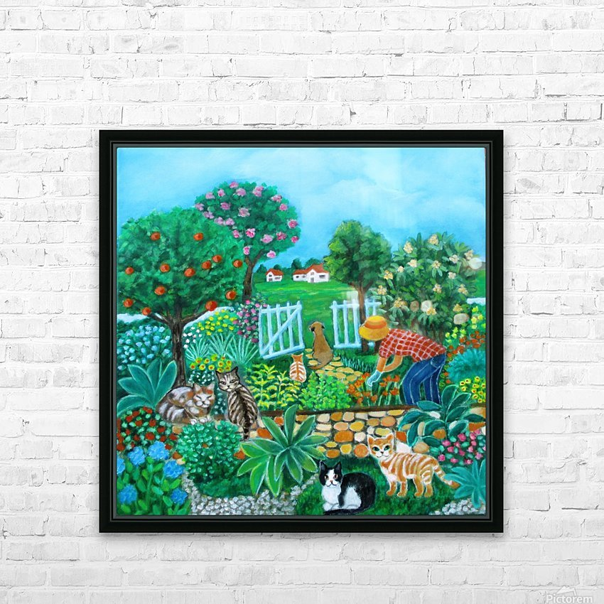gardening HD Sublimation Metal print with Decorating Float Frame (BOX)