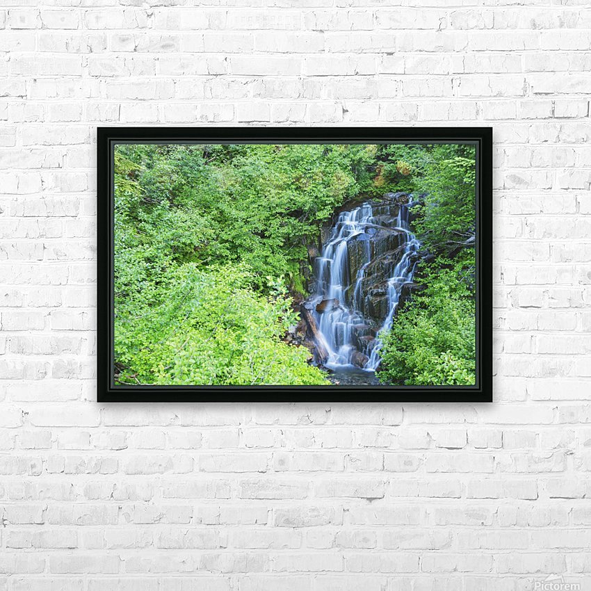 Stevens creek waterfall mount rainer national park near seattle;Washington united states of america HD Sublimation Metal print with Decorating Float Frame (BOX)