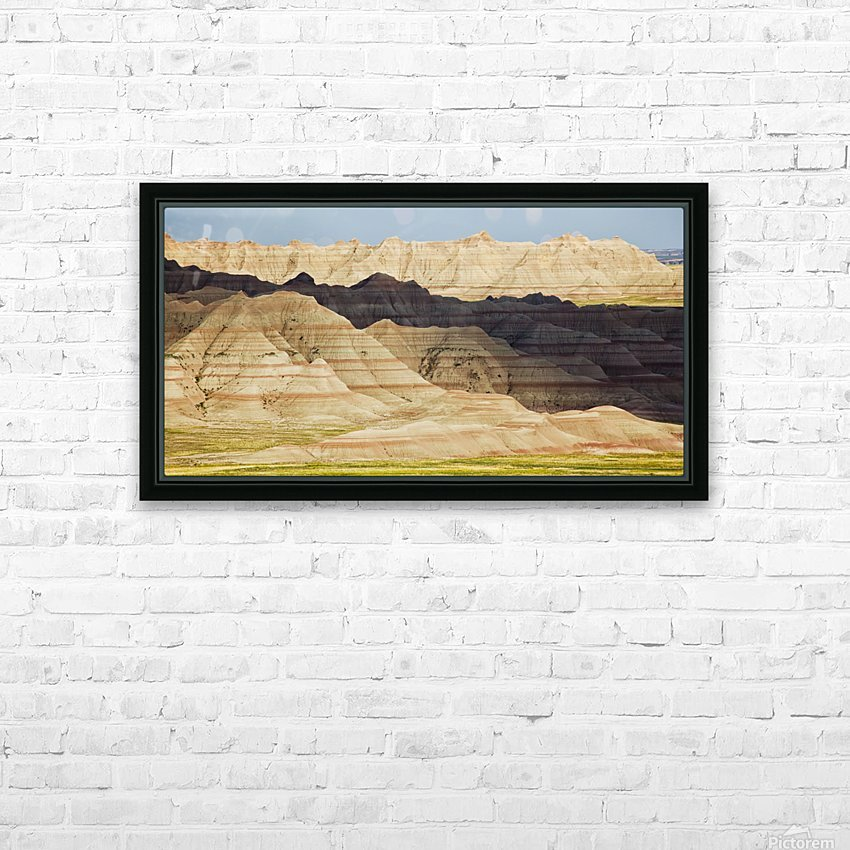 Light and shadows paint the landscape of badlands national park; south dakota united states of america HD Sublimation Metal print with Decorating Float Frame (BOX)