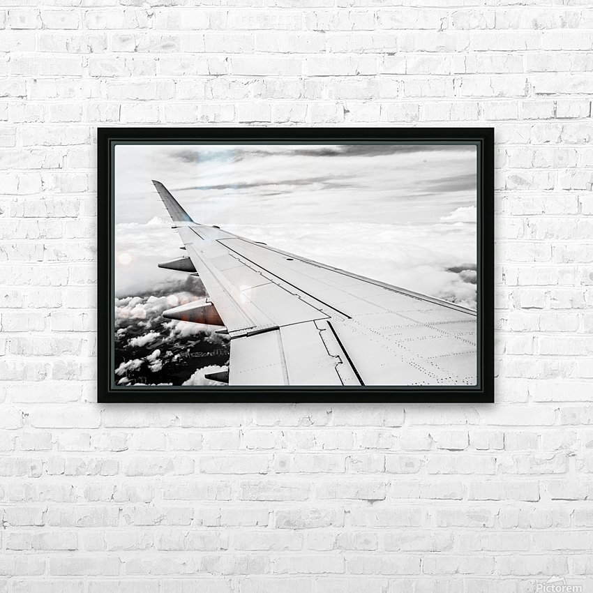 Airplane Wing HD Sublimation Metal print with Decorating Float Frame (BOX)