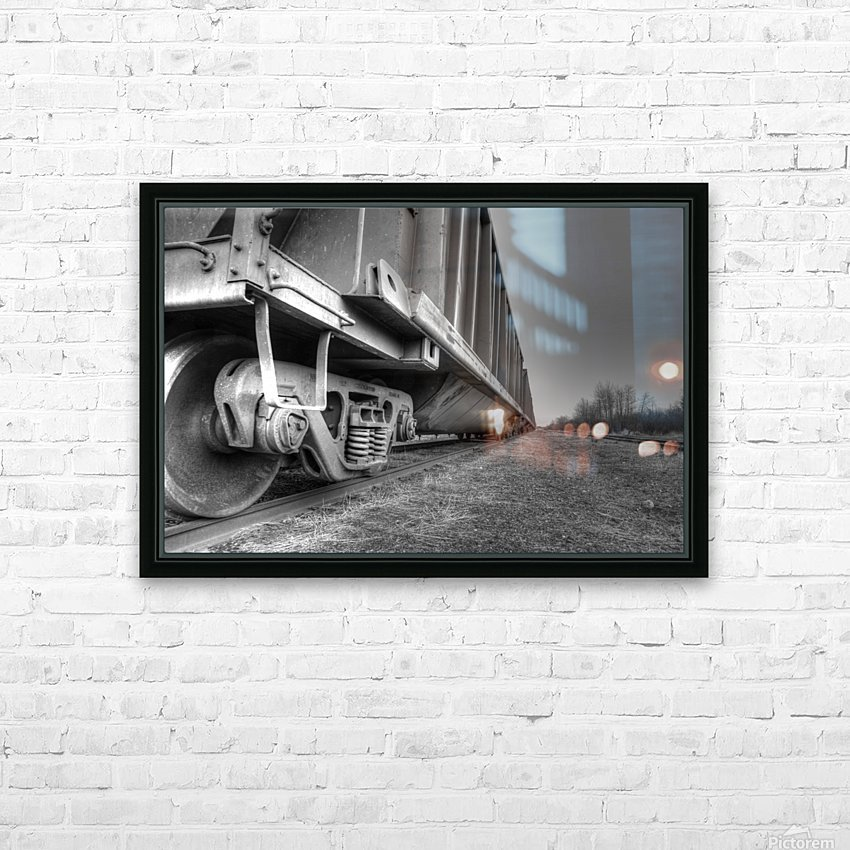 Rail Cars HD Sublimation Metal print with Decorating Float Frame (BOX)