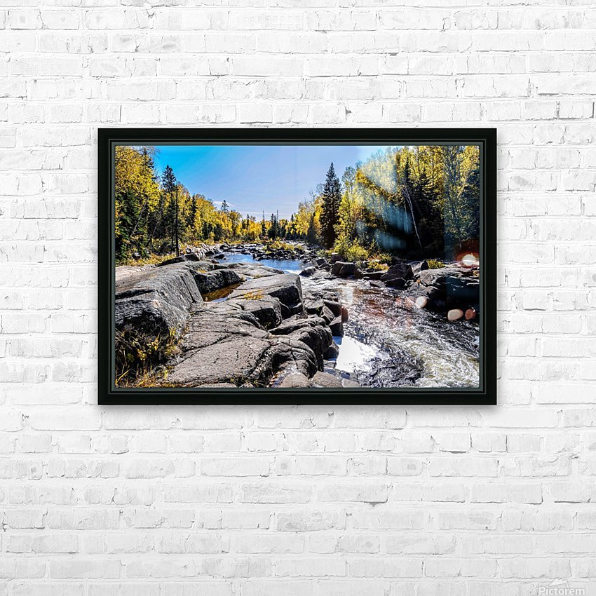 River Bed HD Sublimation Metal print with Decorating Float Frame (BOX)