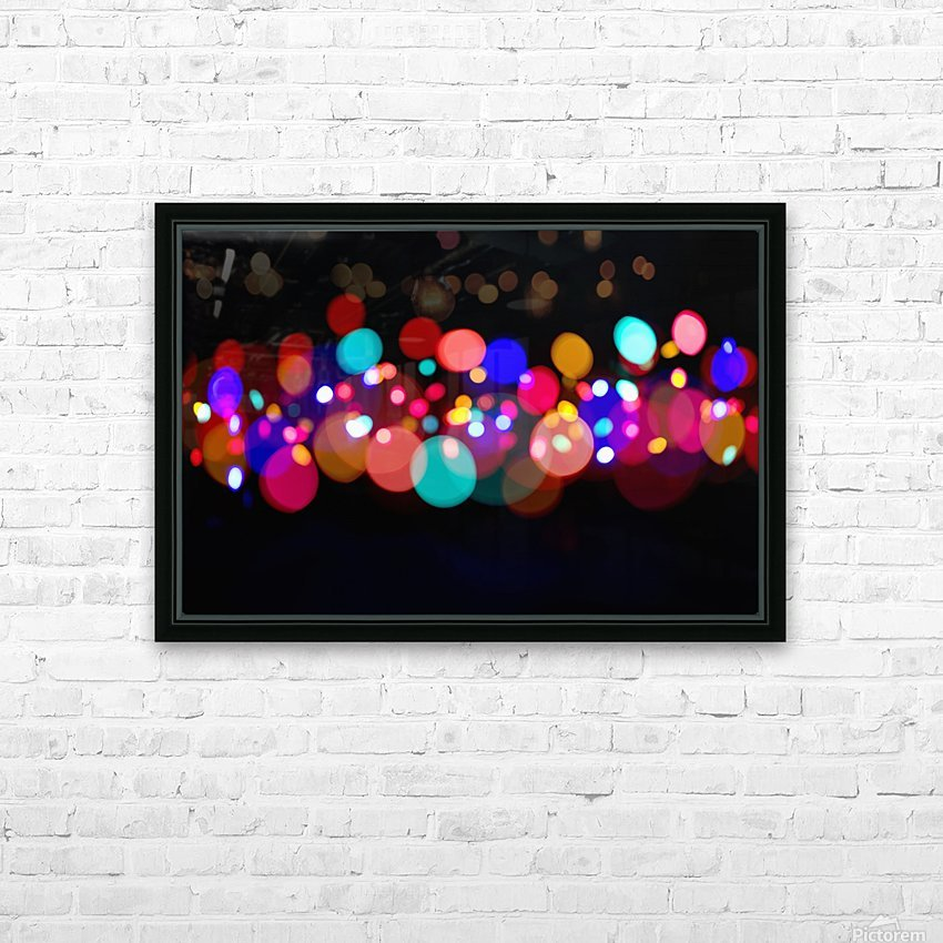 The Blur Of Coloured Lights; Edmonton, Alberta, Canada HD Sublimation Metal print with Decorating Float Frame (BOX)