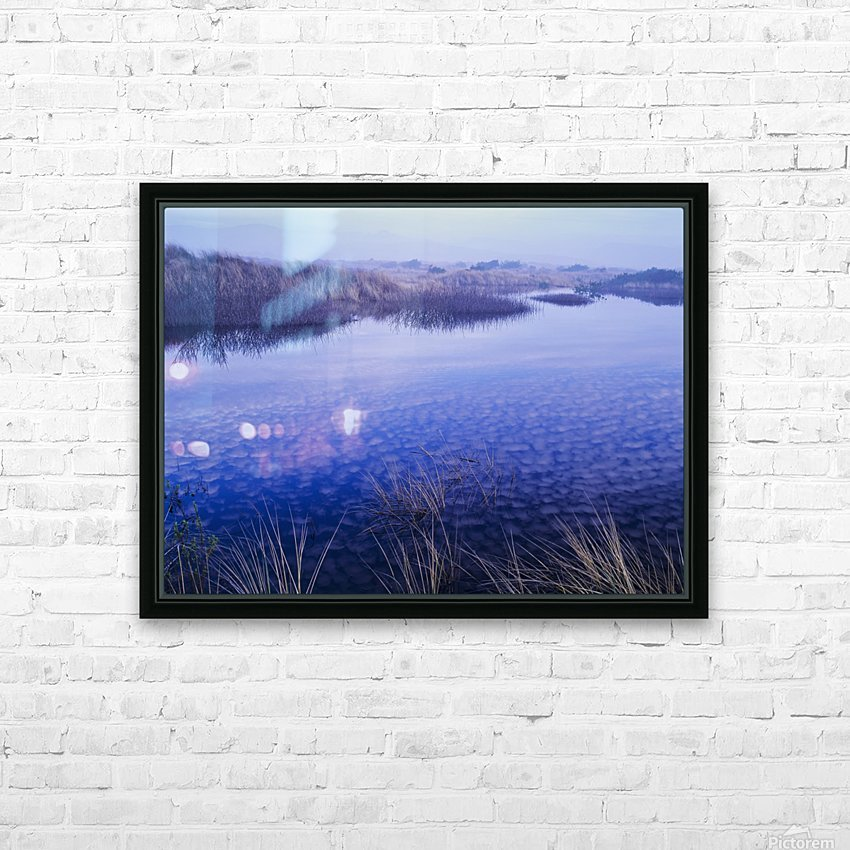 Clouds reflected in the deflection plain; Lakeside, Oregon, United States of America HD Sublimation Metal print with Decorating Float Frame (BOX)