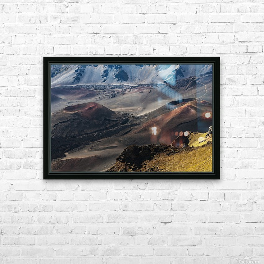 Colourful cinders catch the morning light; Maui, Hawaii, United States of America HD Sublimation Metal print with Decorating Float Frame (BOX)