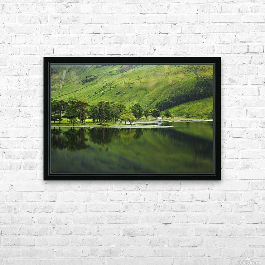 Green Peace, Buttermere, UK HD Sublimation Metal print with Decorating Float Frame (BOX)