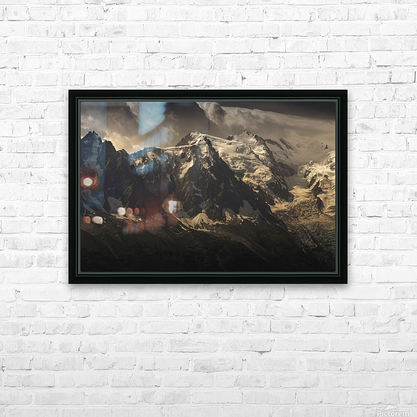 Aiguille du Midi and Mont Blanc, French Alps HD Sublimation Metal print with Decorating Float Frame (BOX)