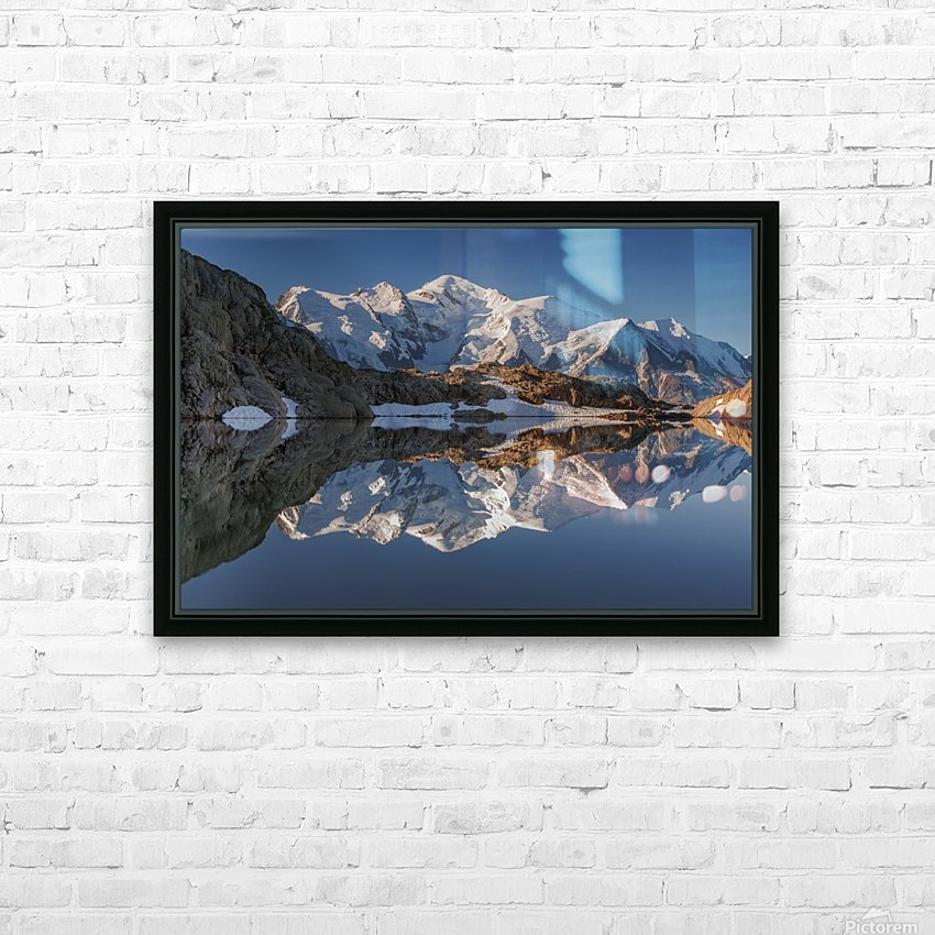 White in Black (Mont Blanc in Lac Noir), French Alps HD Sublimation Metal print with Decorating Float Frame (BOX)