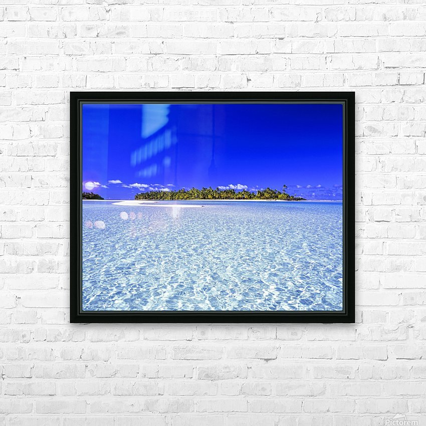 One Foot Island, Aitutaki; Aitutaki, Cook Islands HD Sublimation Metal print with Decorating Float Frame (BOX)