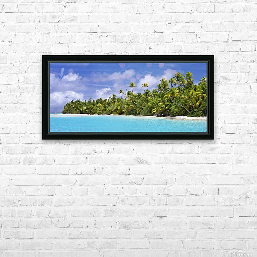 Remote island near Barefoot Island; Aitutaki, Cook Islands HD Sublimation Metal print with Decorating Float Frame (BOX)