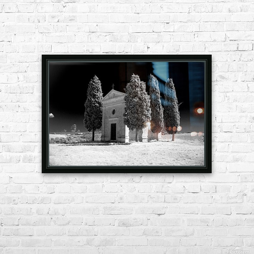 Tuscany Montalcino HD Sublimation Metal print with Decorating Float Frame (BOX)